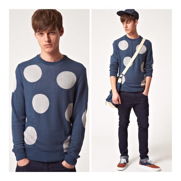 Asos Sweaters Mens Giant Polka Dot Sweater Jumper Nwt Poshmark